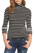 Women's Halogen Funnel Neck Cashmere Sweater - Black