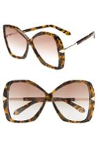 Women's Karen Walker Mary 60mm Butterfly Sunglasses - Crazy Tortoise