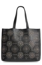 Chelsea28 Starburst Faux Leather Tote & Zip Pouch -