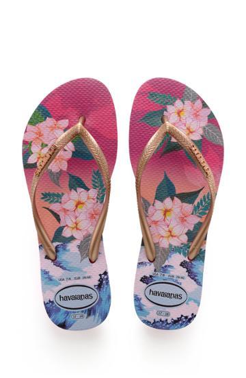 Women's Havaianas Slim Tropical Sunset Flip Flop /36 Br - Pink