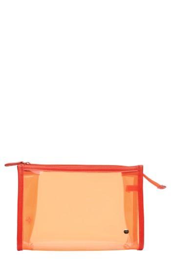Stephanie Johnson Miami Medium Zip Closure Cosmetics Case, Size - Miami Orange