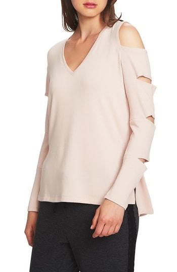 Women's 1.state Cold Shoulder Slash Sleeve Top - Orange