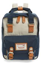 Doughnut Mini Macaroon Colorblock Water Resistant Backpack - Ivory