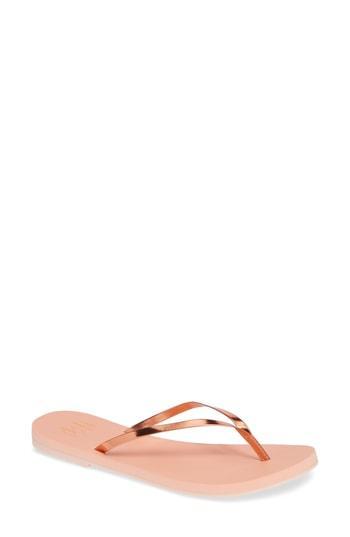 Women's Malvados Lux Thong Sandal /6 M - Coral