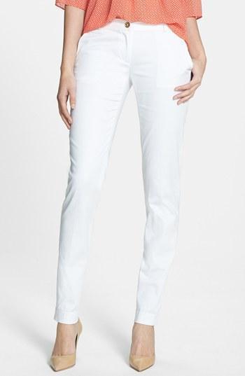 Michael Michael Kors Skinny Ankle Pants (regular & Petite) White/