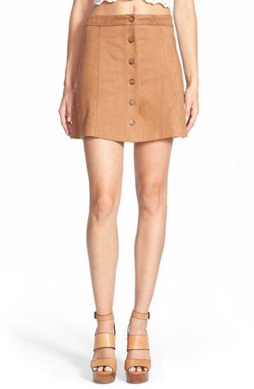 Women's Wayf Faux Suede Skirt