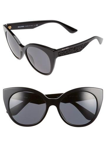 Women's Miu Miu 55mm Cat Eye Sunglasses