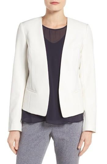 Petite Women's Halogen Open Front Jacket, Size P - Ivory