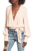 Women's Afrm Sofie Thong Bodysuit & Scarf - Pink