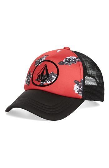 Women's Volcom Tagurit Trucker Hat - Red