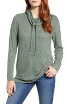 Women's Caslon Cowl Hood Pullover - Green