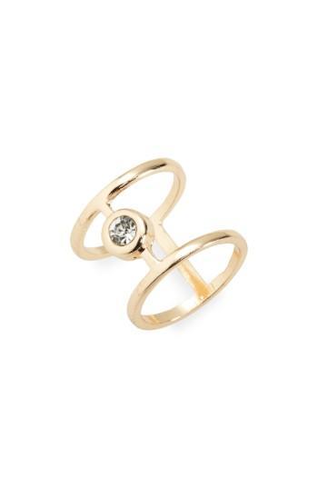 Women's Bp. Crystal Two Bar Ring