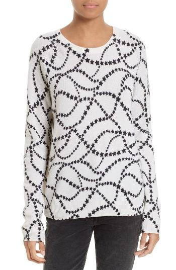 Women's Equipment Sloane Star Print Cashmere Sweater - White