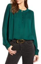 Women's Treasure & Bond Tonal Stripe Blouse - Green