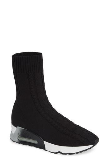Women's Ash Liv Knit Sneaker Bootie Eu - Black