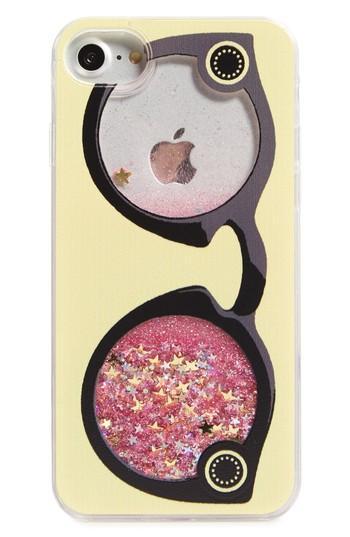 La Double 7 Glittering Glasses Iphone 7/8 Case - Yellow