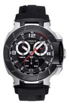 Men's Tissot T-race Chronograph Silicone Strap Watch, 50mm