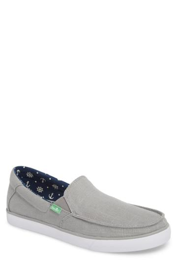 Men's Sanuk Sideline Linen Slip-on .5 M - Grey