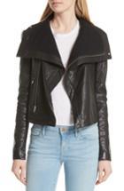 Women's Veda Max Leather Jacket - Black