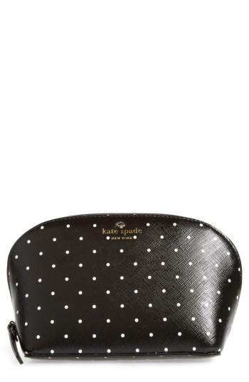Kate Spade New York Brooks Drive - Small Abalene Faux Leather Pouch, Size - Black/ Cream