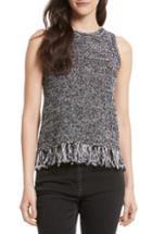 Women's Rebecca Minkoff Bea Fringe Top, Size - Black