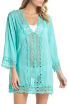 Women's La Blanca Island Fare Cover-up Tunic - Blue