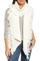 Women's Rebecca Minkoff Asymmetrical Fringed Muffler, Size - White