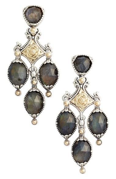 Women's Konstantino Cassiopeia Triple Drop Chandelier Earrings