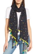 Women's Rebecca Minkoff Paper Airplane Oblong Scarf, Size - Black
