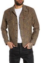 Men's Levi's Cheetah Print Trucker Jacket - Brown