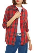 Women's Topshop Plaid Shirt