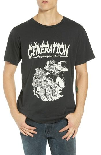 Men's Barking Irons Generation Appropriation Graphic T-shirt - Black