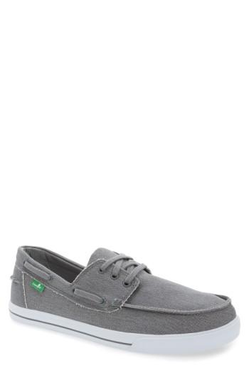 Men's Sanuk 'the Sea Man' Boat Shoe .5 M - Grey