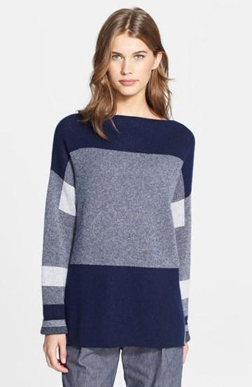Vince Intarsia Colorblock Sweater