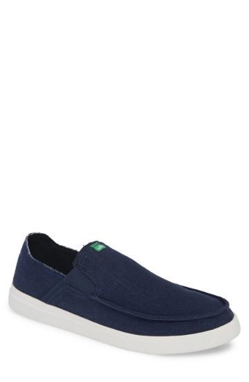 Men's Sanuk Pick Pocket Slip-on Sneaker M - Blue