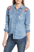 Women's Lucky Brand Embroidered Denim Shirt