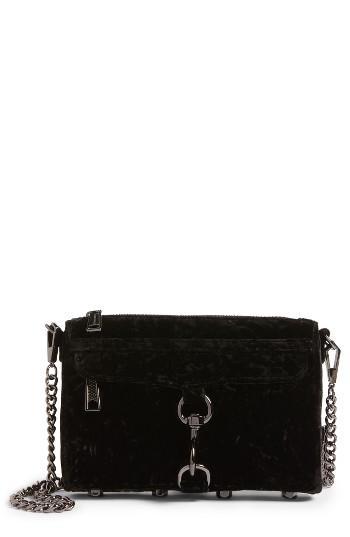 Rebecca Minkoff Mini Mac Velvet Convertible Crossbody Bag -