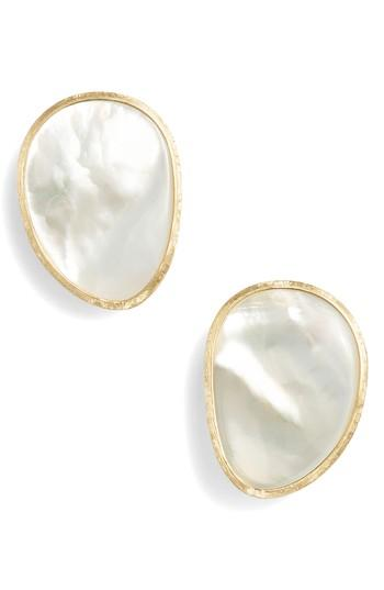Women's Marco Bicego Lunaria Pearl Stud Earrings