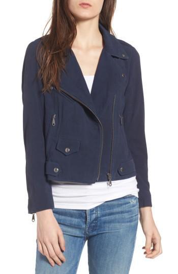 Women's Rebecca Minkoff Wes Suede Moto Jacket, Size - Blue
