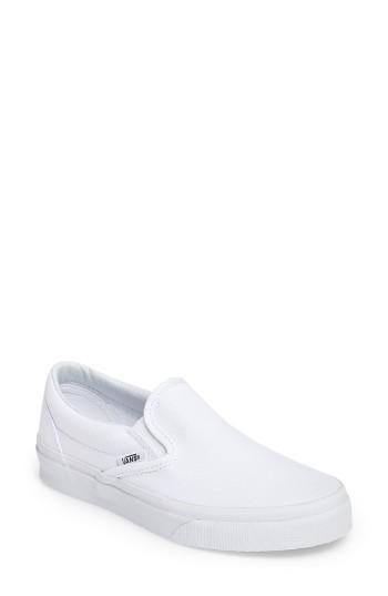 Women's Vans Classic Sneaker M - White