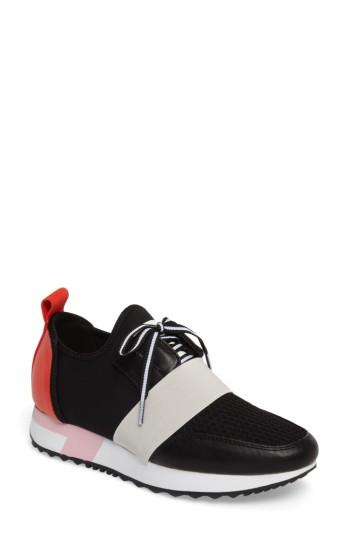 Women's Steve Madden Antics Sneaker .5 M - Black