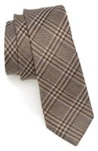Men's The Tie Bar Columbus Plaid Linen & Silk Tie