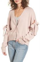Women's Bp. Bow Sleeve Cardigan, Size - Pink