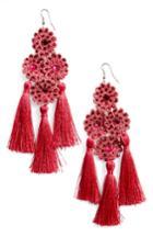 Women's Topshop Flower Tassel Earrings