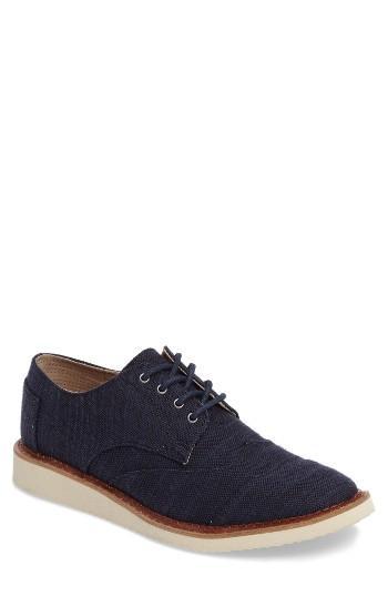 Men's Toms 'classic Brogue' Cotton Twill Oxford .5 M - Blue