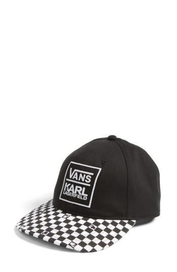 Women's Vans X Karl Lagerfeld Dugout Baseball Cap -