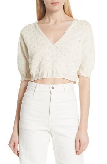 Women's Rachel Comey Ode Garbanzo Knit Crop Sweater - Ivory