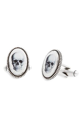 Men's Link Up Skull Cuff Links