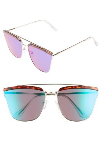 Women's Leith 60mm Mirror Sunglasses - Gold/ Tort
