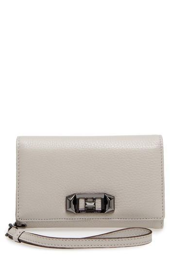 Women's Rebecca Minkoff Love Lock Iphone 7/8 & 7/8 Leather Wristlet Folio - Ivory